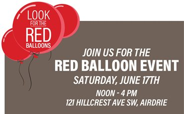 Red Balloon Event in Hillcrest in Airdrie!